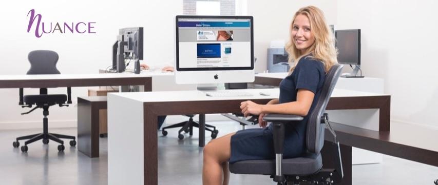 Bureaustoel Nuance, alleen voor (lange) vrouwen