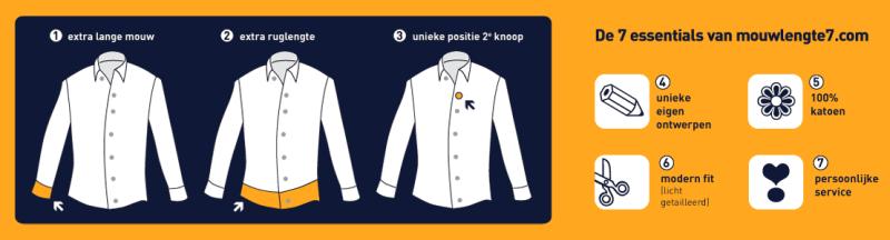 Overhemden met extra lange mouw