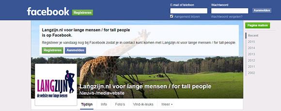 Lange mensen op Facebook