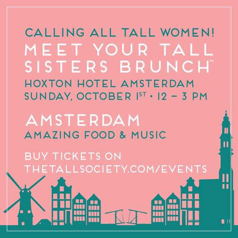 Brunch voor lange vrouwen in Amsterdam
