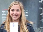 Zeventienjarige Amy (197 cm) langste meisje bij wedstrijd