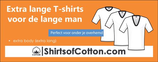 Extra lange T-shirts voor de lange man