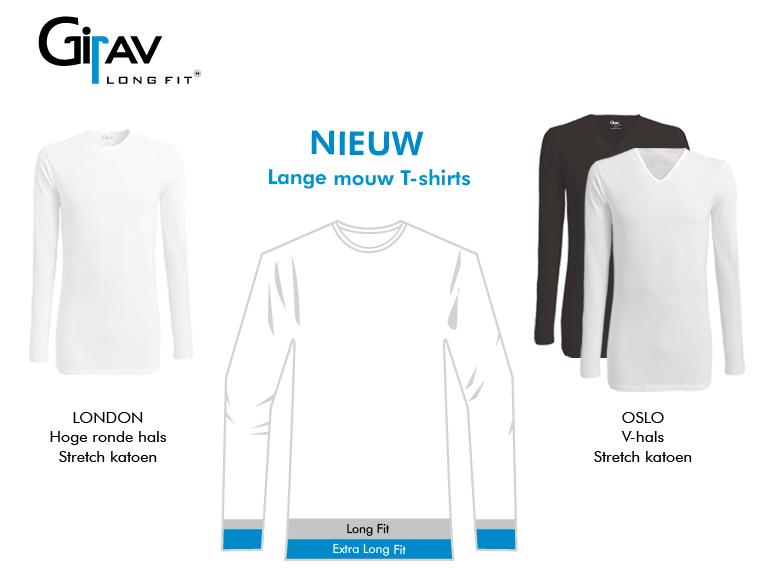 T-shirt lange mouw van Girav